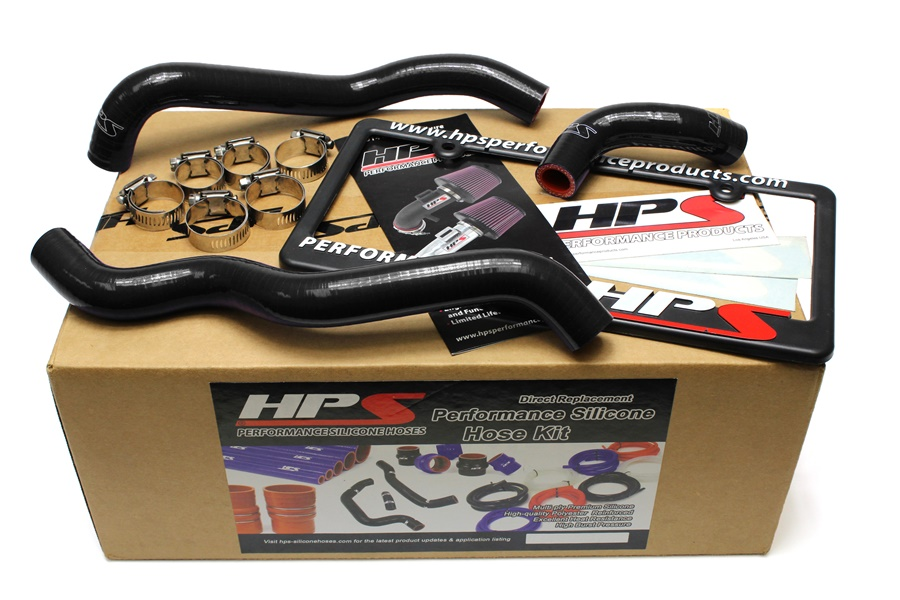 HPS BLACK SILICONE HEATER HOSE KIT FOR NISSAN 03-06 350Z LHD