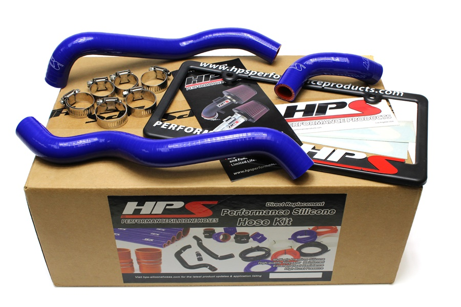 HPS BLUE SILICONE HEATER HOSE KIT FOR NISSAN 03-06 350Z LHD