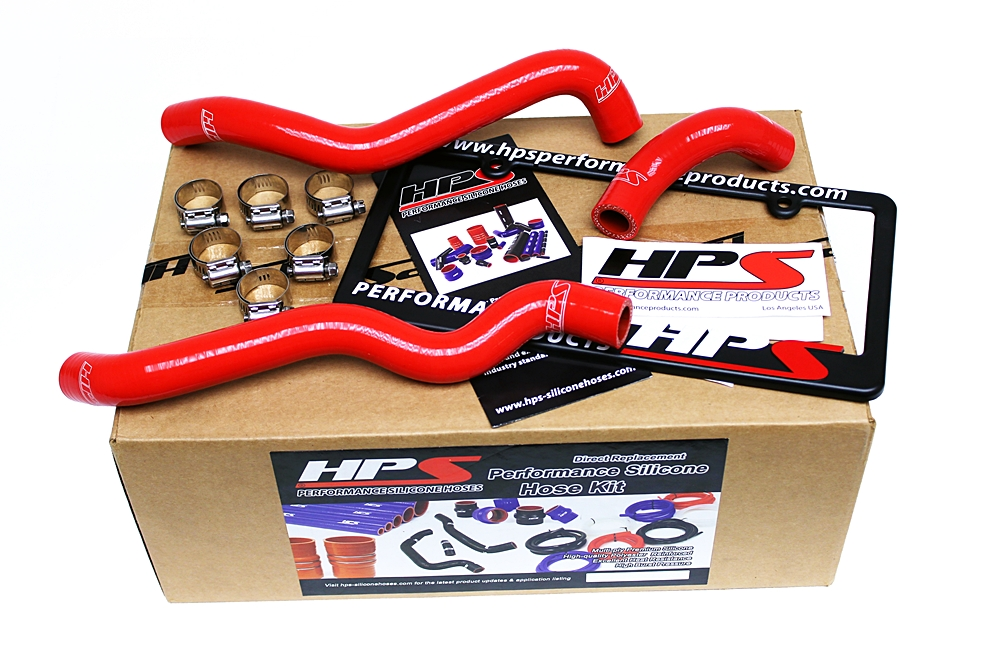 HPS RED SILICONE HEATER HOSE KIT FOR NISSAN 03-06 350Z LHD